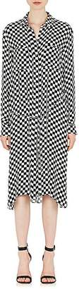 Amiri Women's Checked Silk Button-Front Dress