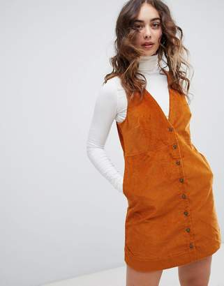Free People Rolling Thunder cord a-line dress