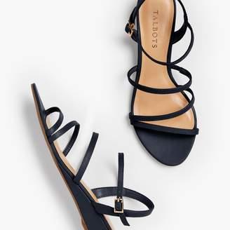 Talbots Capri Multi-Strap Mini-Wedge Sandals - Nappa Leather