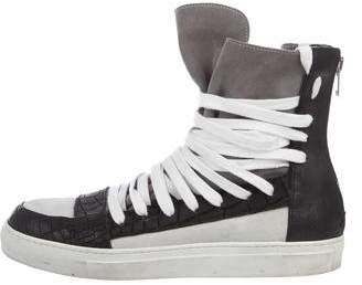 Kris Van Assche Embossed High-Top Sneakers