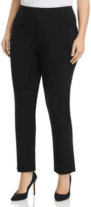 Misook Plus High-Rise Slim-Leg Pants
