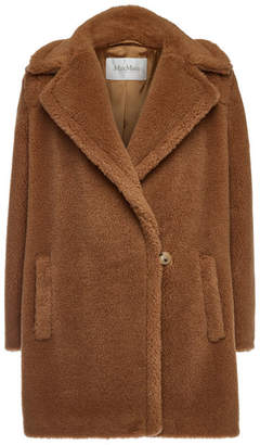 Max Mara Teddy Coat in Camel Wool and Silk