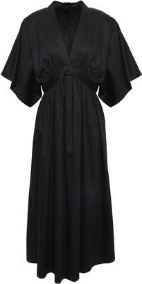 ADAM by Adam Lippes Gathered Cotton-poplin Midi Dress