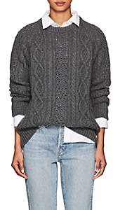 Barneys New York Women's Cable-Knit Cashmere Sweater - Gray