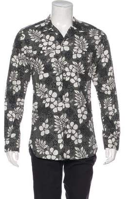 Dolce & Gabbana Floral Print Button-Up Shirt
