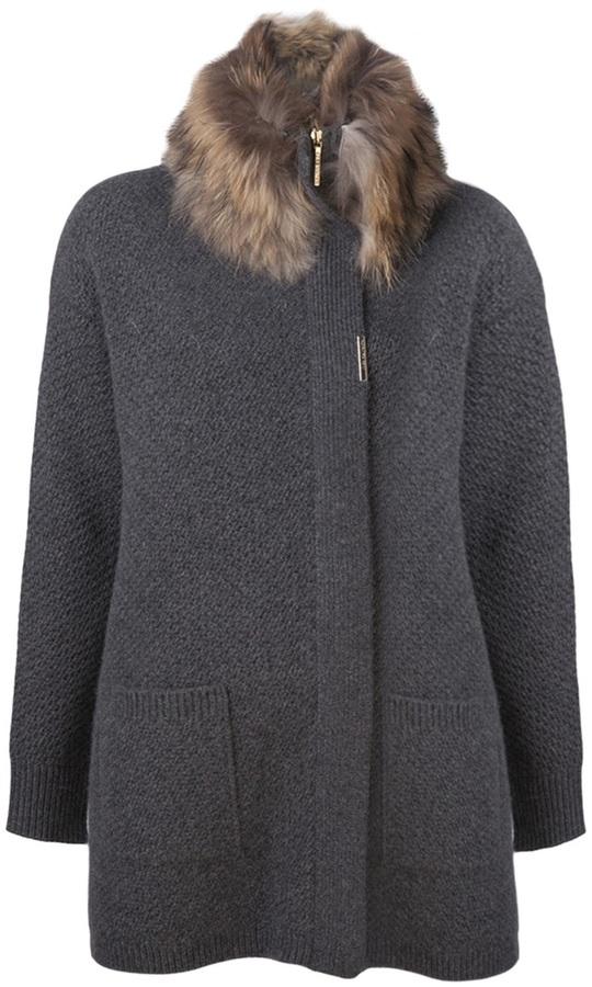 Yves Salomon oversized knit cardigan