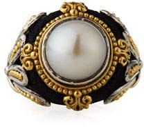 Konstantino Pearly Cabochon Ring