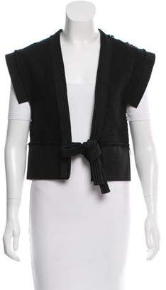 Lanvin Knot-Accented Wool Vest w/ Tags