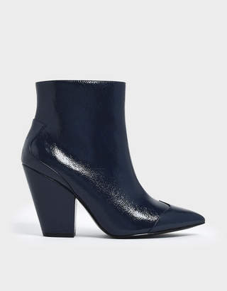 Charles & Keith Zip-Up Chunky Heel Ankle Boots