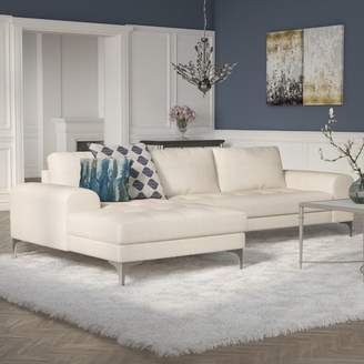 Willa Arlo Interiors Goodwin Sectional Orientation: Left Hand Facing, Upholstery