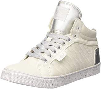 Drunknmunky Women's Boston RAW Hi-Top Trainers, (White-Silver 088)