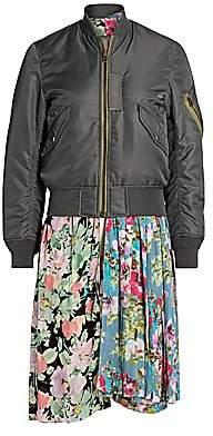 Junya Watanabe Women's Reversible Mixed Media Floral Bomber Jacket