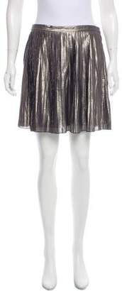 Tory Burch Metallic Pleated Skirt
