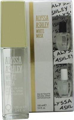 Alyssa Ashley White Musk Gift Set 100mL Edt + 5mL Musk Perfume Oil + 5mL White Musk Perfume Oil For Women