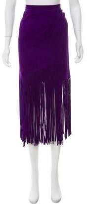 Tamara Mellon Midi Suede Skirt