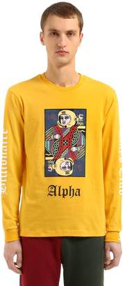 Bbc-Billionaire Boys Club Alpha Omega Long Sleeved Cotton T-Shirt
