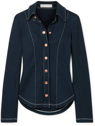 See by Chloe Stretch-jersey Shirt - Navy