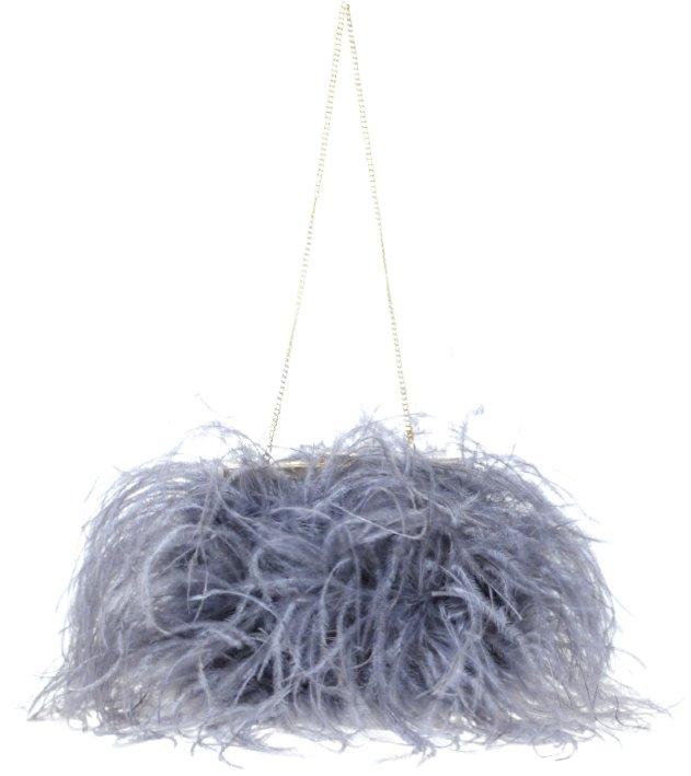 ASOS Premium Feather Vintage Chain Handle Bag