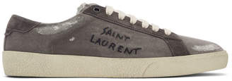 Saint Laurent Grey Destroyed SL/06 Court Classic Sneakers