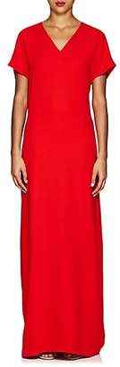 Lisa Perry Women's Flyaway Crepe Gown - Red