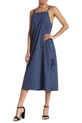 Gilli Side Lace-Up Midi Dress