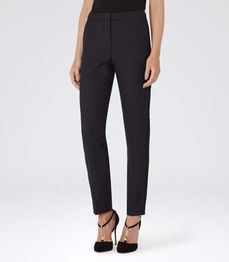 Spencer - Slim-leg Trousers in Night Navy/Black, Womens, Size 10 Reiss