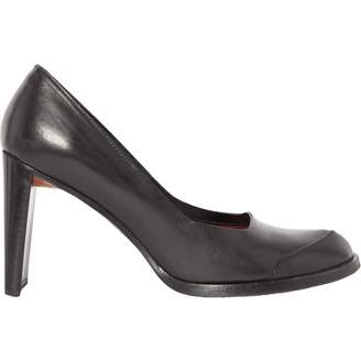 CNC Costume National Black Leather Heels