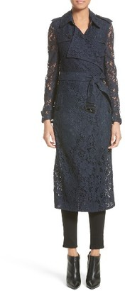 Women's Burberry Gracehill Macrame Lace Wrap Trench Coat $2,895 thestylecure.com