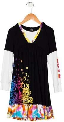 Flowers by Zoe Girls' Long Sleeve Hooded Dress