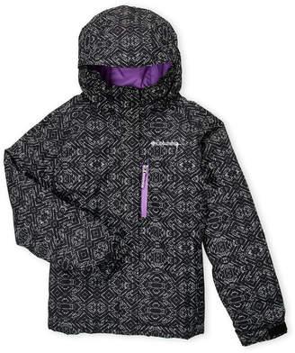 Columbia Girls 7-16) Black Magic Miles Hooded Coat