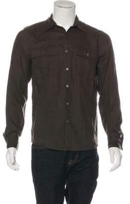 Michael Kors Linen Button-Up Shirt
