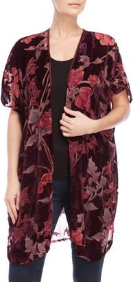 Angie Floral Burnout Velvet Robe