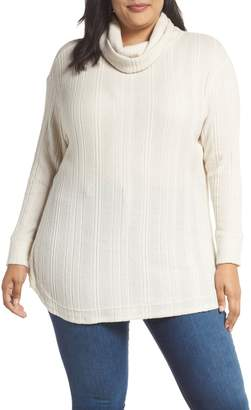 Caslon Drop Needle Hacci Cowl Neck Top