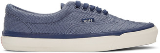 Vans Blue WTAPS Edition OG Era LX Anaconda Sneakers $150 thestylecure.com