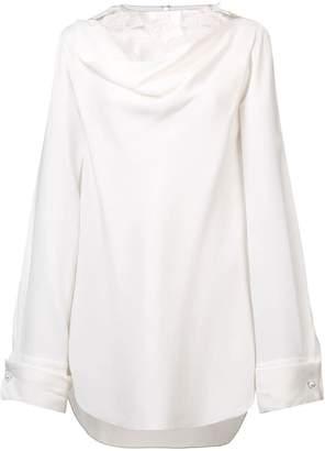 Oscar de la Renta lace appliqué blouse