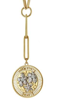 Foundrae Large Resilience Medallion On Clip Necklace