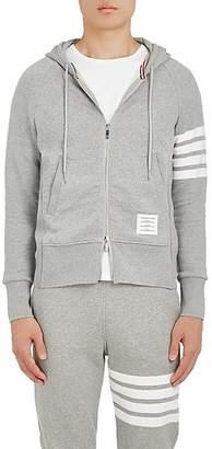 Thom Browne Men's Block-Striped Cotton Hoodie - Light Gray