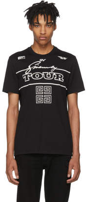 Givenchy Black GV Tour Jersey T-Shirt