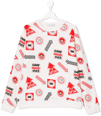 Stella McCartney Teen Biz Games printed sweatshirt