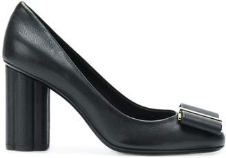Salvatore Ferragamo bow front high-heeled pumps