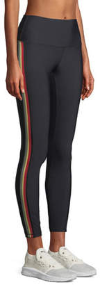 Spiritual Gangster High-Waist 7/8-Length Side-Stripe Leggings