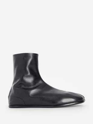 Maison Margiela BLACK TABI ANKLE FLAT BOOTS