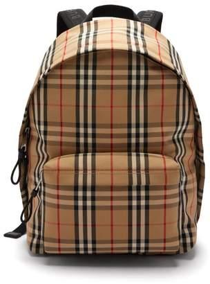 Burberry Jett Vintage Check Backpack - Mens - Beige Multi