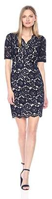 Ellen Tracy Women's V Neck Lace Dress