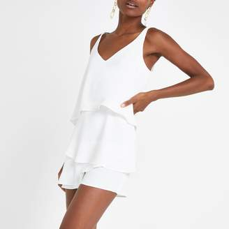 9bb3765926 River Island Mens Womens White frill playsuit