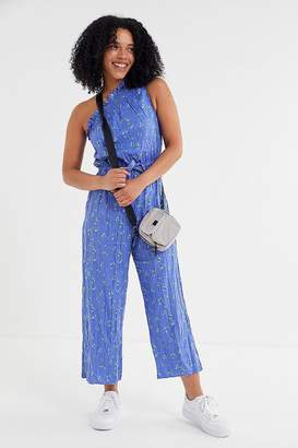 98334b2b41b0 Urban Outfitters Miami Crinkle Linen One-Shoulder Jumpsuit