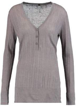 Soyer Ribbed Linen Cashmere And Silk-Blend Top