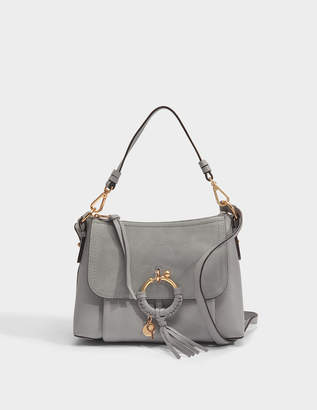See by Chloe Joan Small Crossbody Bag in Skylight Grained Cowhide Leather and Suede