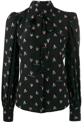 Marc Jacobs floral long-sleeve blouse