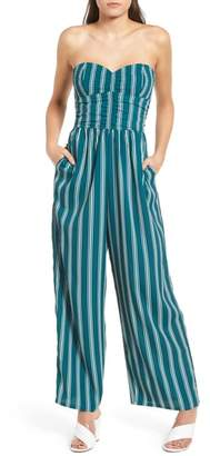 Band of Gypsies Stripe Strapless Jumpsuit